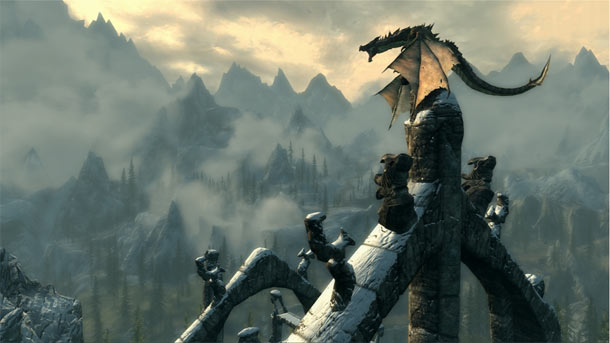 skyrim-dragon